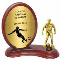 Trofeu lemn WF406+Figurină fotbal F24
