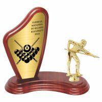 Trofeu lemn WF405+Figurină Biliard F243