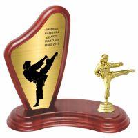 Trofeu lemn WF405+Figurină Luptătoare Arte Marțiale 427