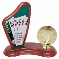 Trofeu lemn WF405Figurina Poker F236 UV