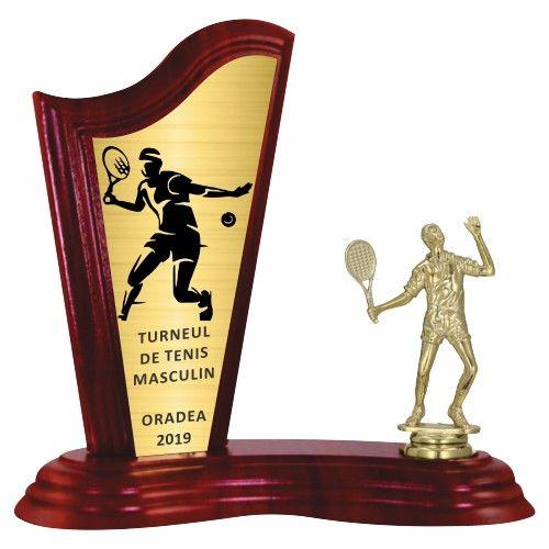 Trofeu lemn WF411Figurina tenis F278 m