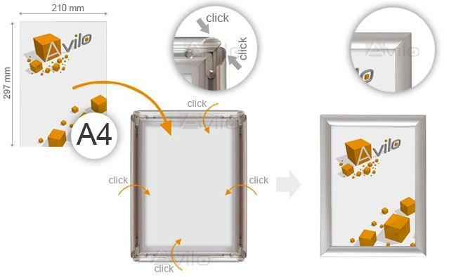 Ramă CLICK_A4