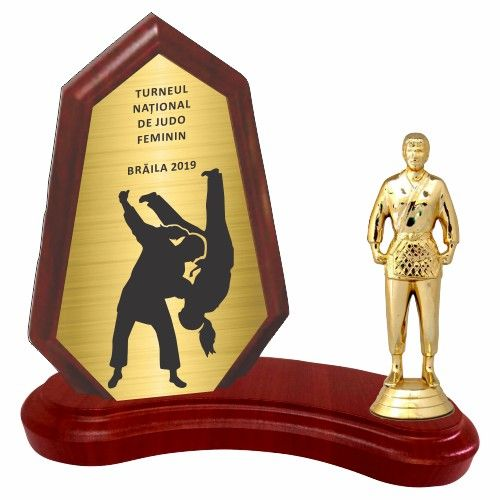 Trofeu lemn WF404Figurina Luptatoare Judo F538 M