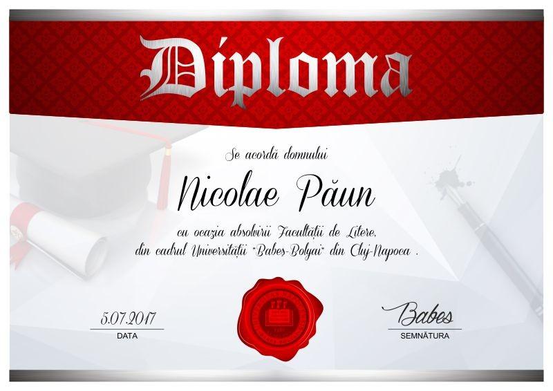 Diploma absolvire A001