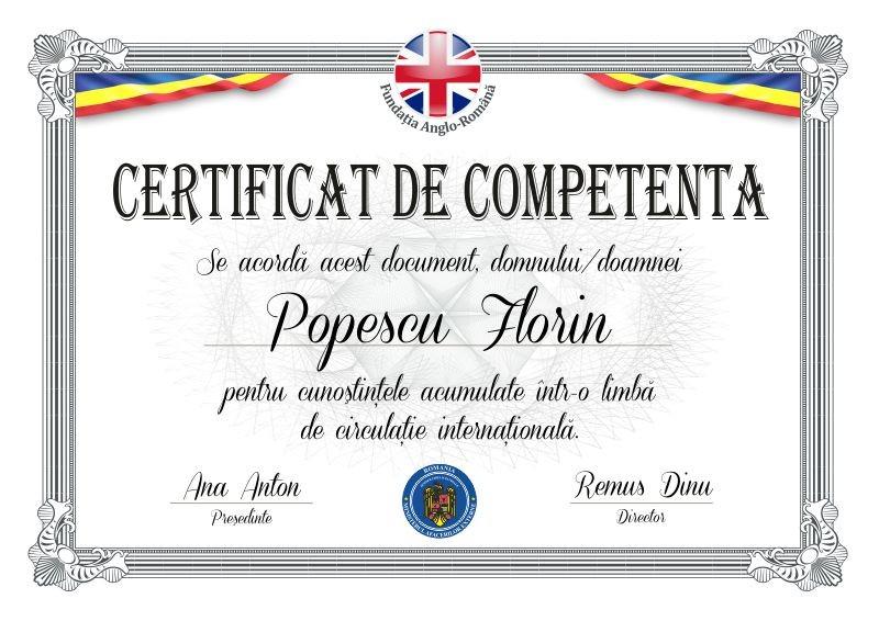 Certificat absolvire B001