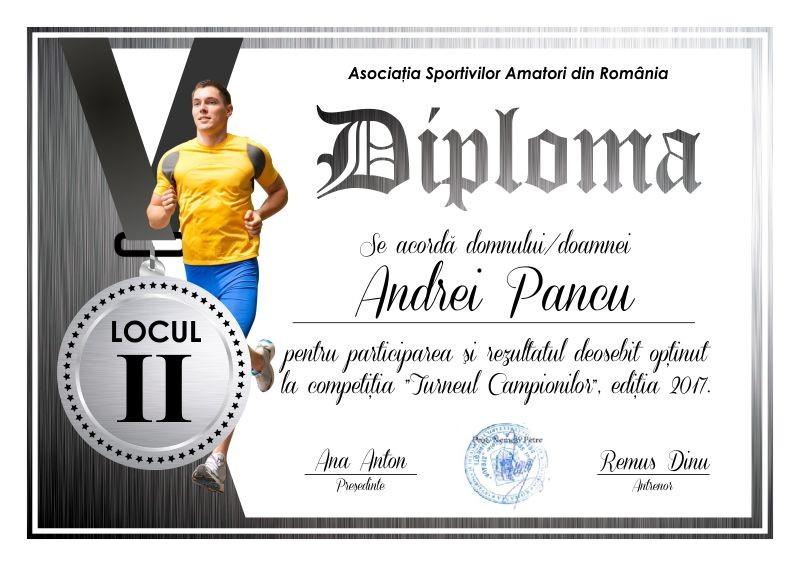 Diploma competitii sportive C005