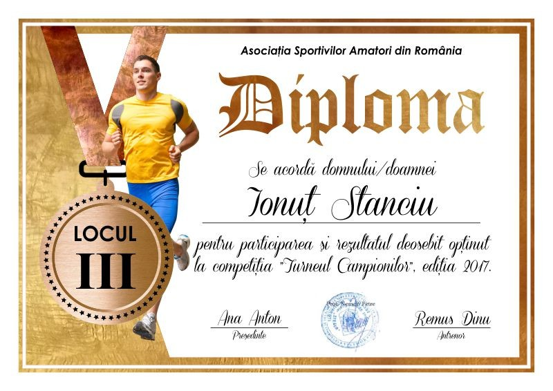 Diploma competitii sportive C006