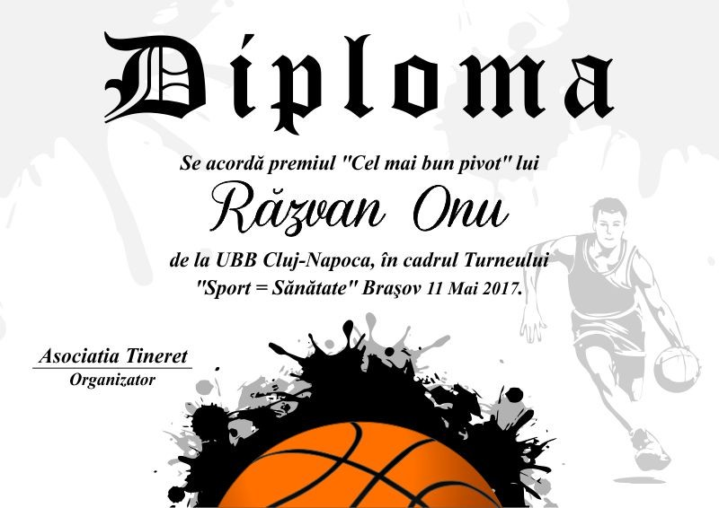 Diploma competitii sportive C014