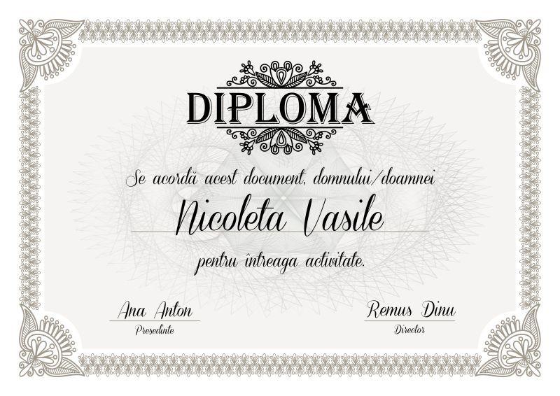 Diploma profesionala P001