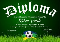 Diploma competitii sportive C012