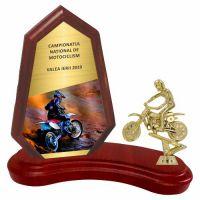 Trofeu lemn WF404Figurina motociclist F244 MUV
