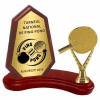 Trofeu lemn WF404+Figurină Pin-Pong F241
