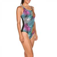 W Arianna Criss Cross Back One Piece CCup BlackMulti 4