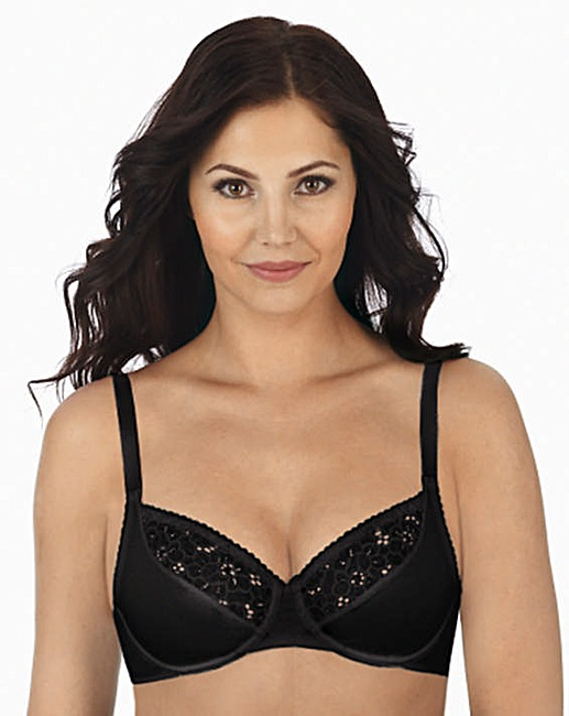 Cotton Lace Comfort W negru1