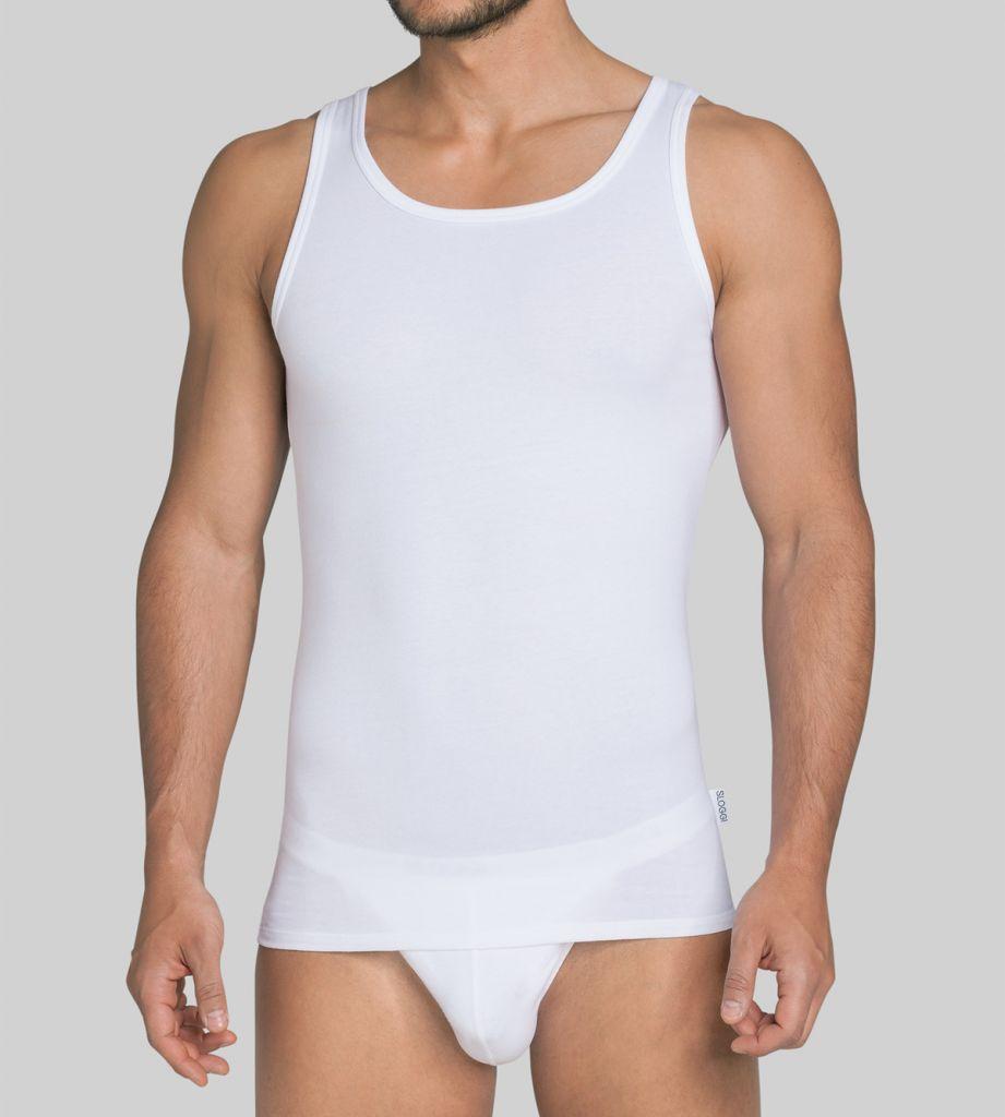 sloggi men Basic SH02 Vest N alb 1