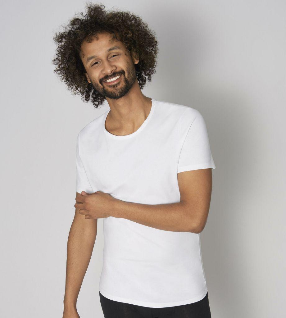 Sloggi men GO Shirt ONeck Slim Fit Alb 10205190 1