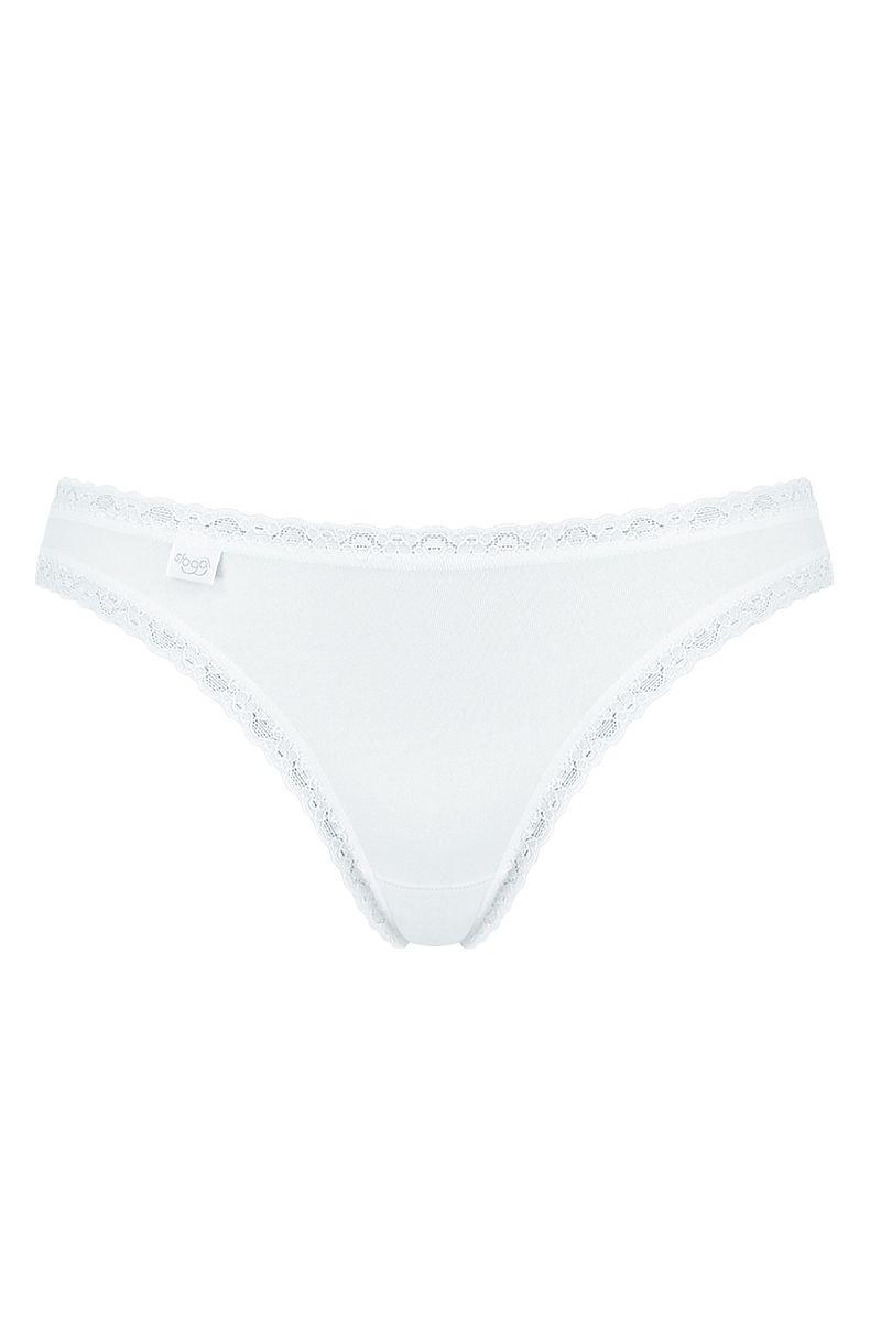 sloggi 247 Cotton Lace Tanga alb1e