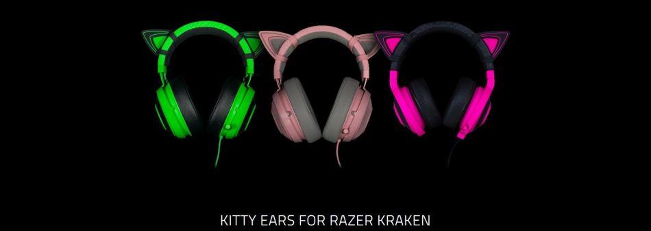 Razer Kitty Ears Kraken - Neon Purple