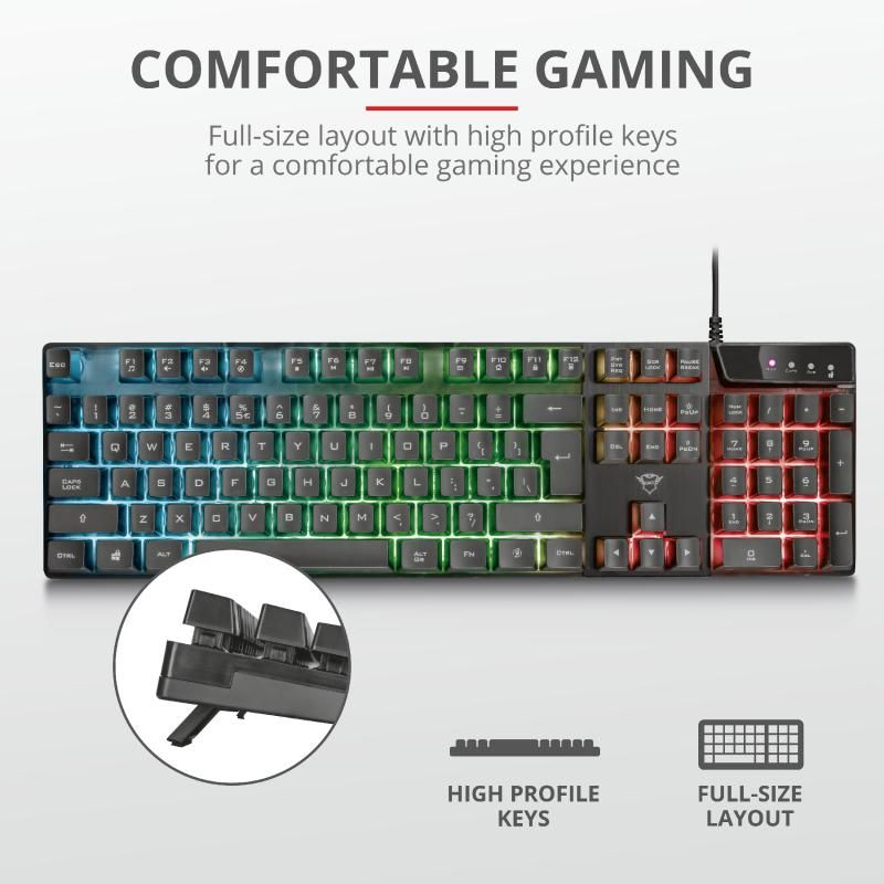 Trust GXT 835 Azor Illuminated Keyboard