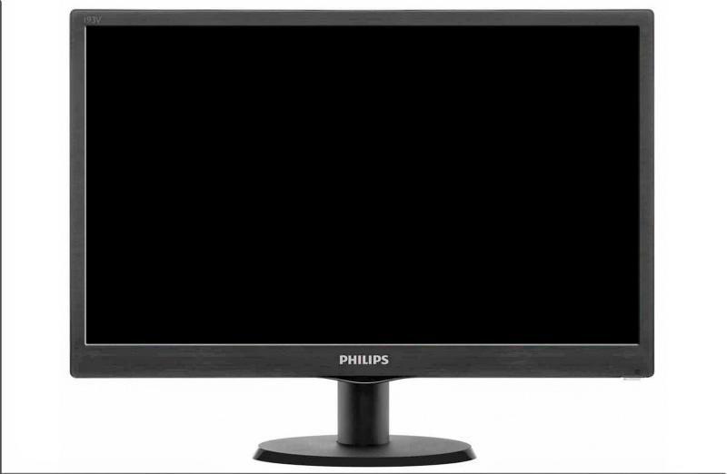 Monitor 18.5' PHILIPS 193V5LSB2, FWXGA 1366*768, TN, 16:9, WLED, 5 ms ,200 cd/m2, 90/65, 10M:1/ 700:1, D-SUB, VESA, Kensington lock, black