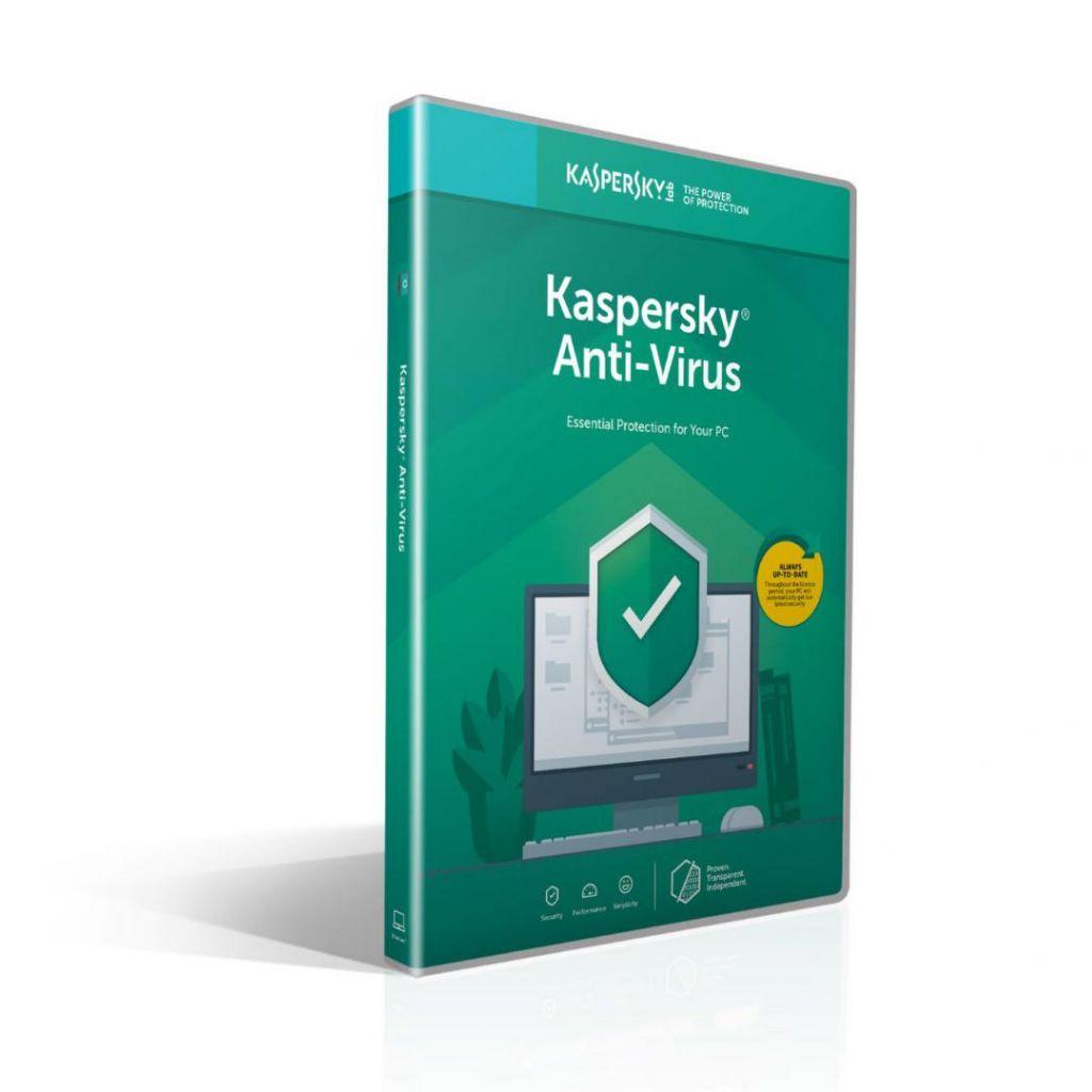 Licenta retail Kaspersky Anti-Virus - protectie premiata, eficienta si securitate usor de gestionat, valabila pentru 1 an, 1 echipament, renew