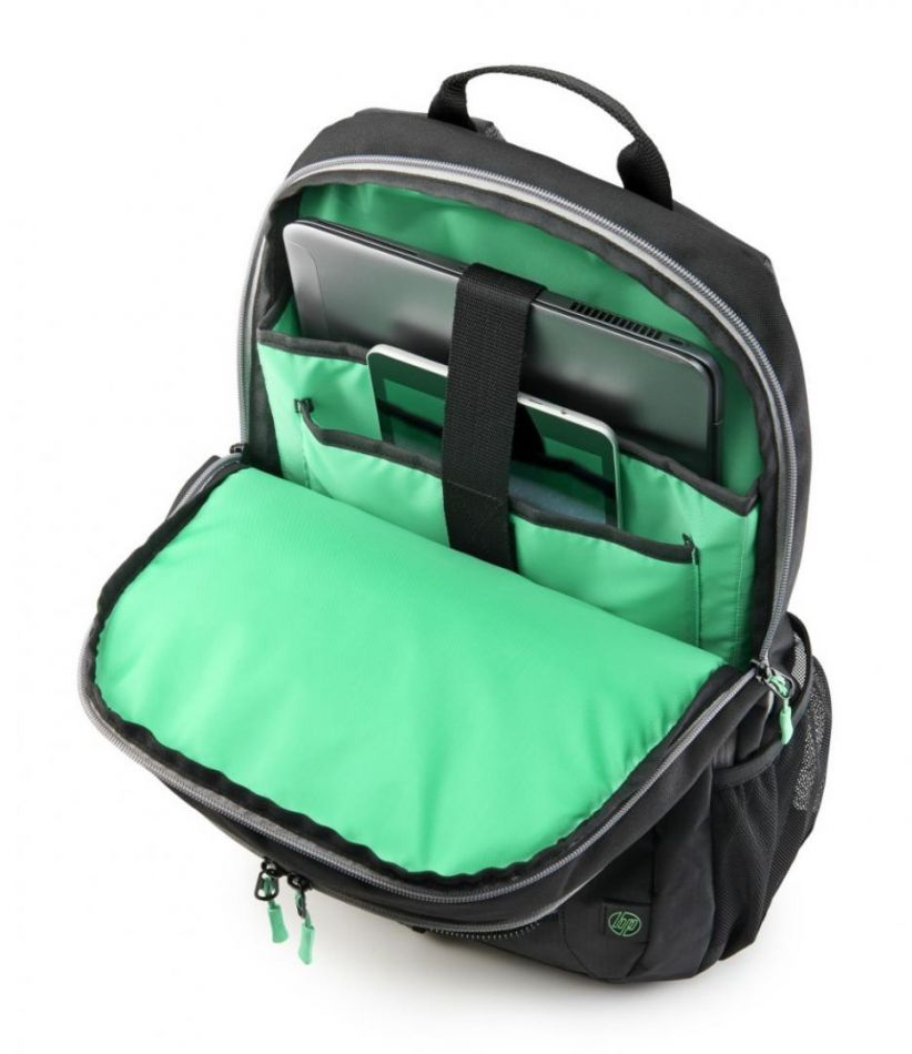 HP 15.6 Active Backpack (Black/Mint Gree