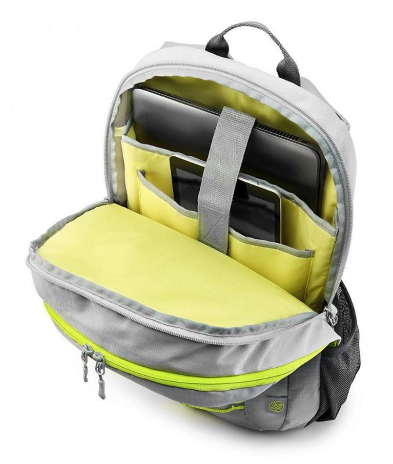 HP 15.6 Active Backpack (Grey/Neon Yello