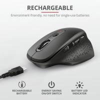 Trust Ozaa Rechargeable Wireless MouseBl