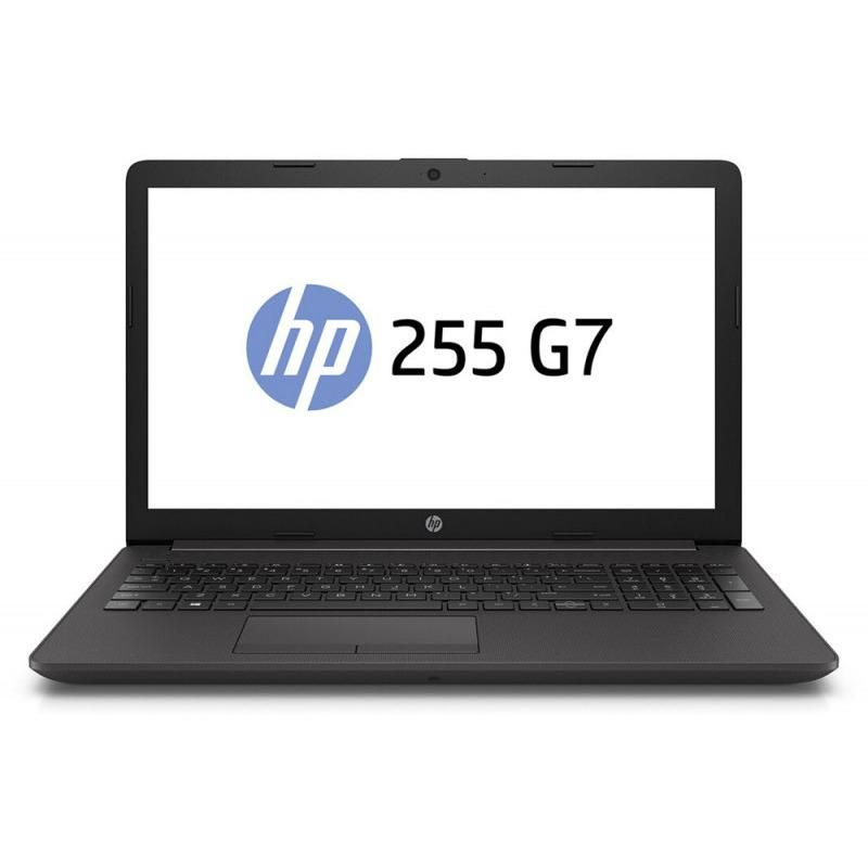 Laptop HP 255 G7, 15.6 inch LED FHD Anti-Glare (1920x1080), AMD Ryzen 3 3200U Dual Core (2.6GHz, up to 3.5GHz, 4MB), video integrat AMD Graphics, RAM 8GB DDR4 2400MHz (1x8GB), SSD 256GB PCle NVMe, no ODD, Card reader, Boxe stereo integrate, HD audio, Webc