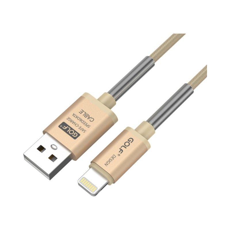 Cablu de date si incarcare Auriu 1m,Iphone