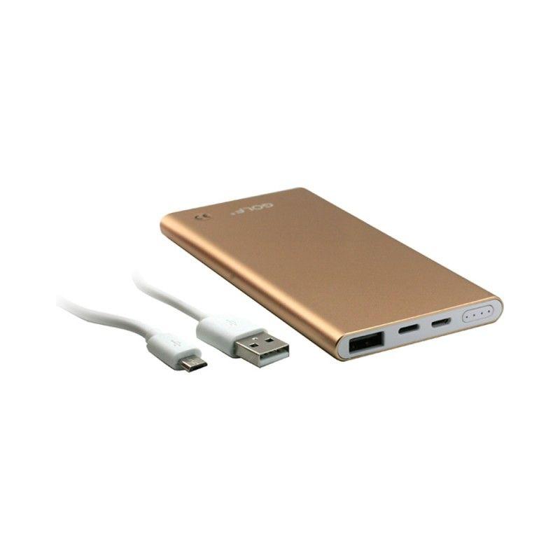PowerBank Golf Edge 05000 Auriu Micro USB, USB ,CAPACITATE 5000