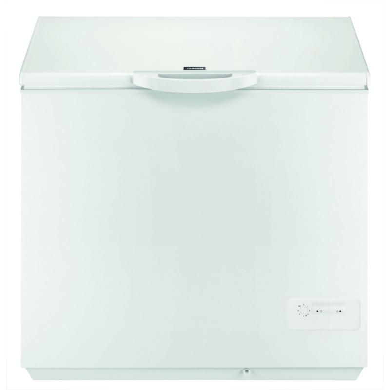 Lada frigorifica Zanussi ZFC26400WA (ZFC627WAP), volum brut: 263 l,volum net: 260 l, clasa energetica A+, iluminare, 2 cosuri internterioare, nivel de zgomot: 45 dB, dimensiuni: 86*93*66 cm, culoare: alb