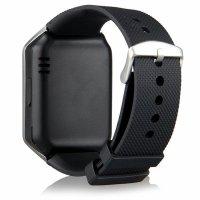 Ceas Smartwatch cu Telefon TechONE™ DZ09 Upgrade, slot sim, foto, bluetooth, slot card SD, Whatsapp, Facebook, compatibil Android si IOS, Argintiu