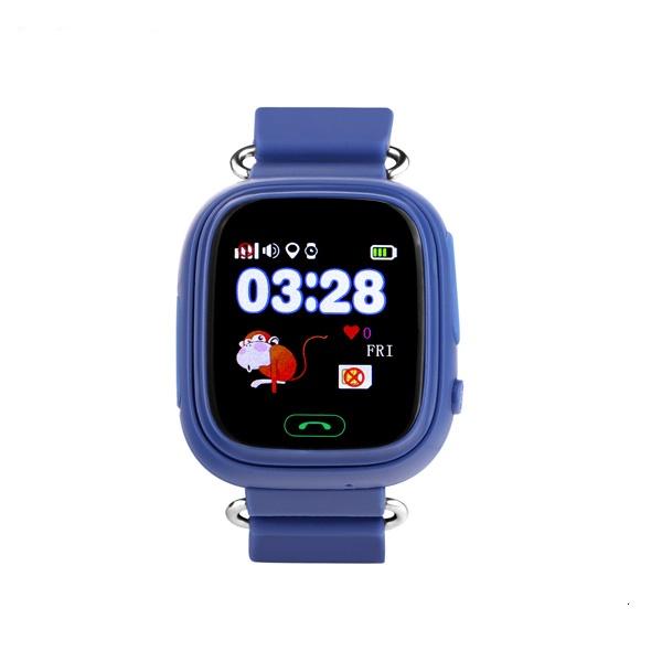 Ceas smartwatch GPS copii TechONE™ GW100 Touch, functie telefon, touchscreen, Bluetooth, pozitionare GPS+AGPS+WiFi+Beidou, Buton SOS, monitorizare spion, Bleumarin