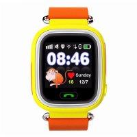 Ceas smartwatch GPS copii TechONE™ GW100 Touch, functie telefon, touchscreen, Bluetooth, pozitionare GPS+AGPS+WiFi+Beidou, Buton SOS, monitorizare spion, Galben