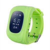 Ceas smartwatch copii GPS TechONE™ Q50 cu functie telefon, buton SOS si monitorizare spion, Verde