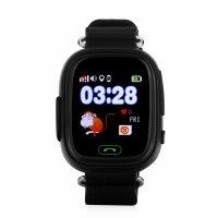 Ceas smartwatch GPS copii Techone™ GW100 Touch, functie telefon, touchscreen, Bluetooth, pozitionare GPS+AGPS+WiFi+Beidou, Buton SOS, monitorizare spion, Negru
