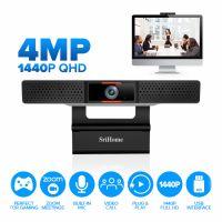 Camera web, SriHome™ SH002 Pro, Extra FullHD 4MP, microfon dual, unghi 110 grade, 30FPS, anulare zgomot de fond, plug & play,  negru