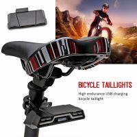 Stop bicicleta, Huerler® BK820, LED, rezistent la apa, lumina 2 culori rosu/albastru, 6 moduri luminare, aluminiu, 2000mAh, incarcare USB, negru