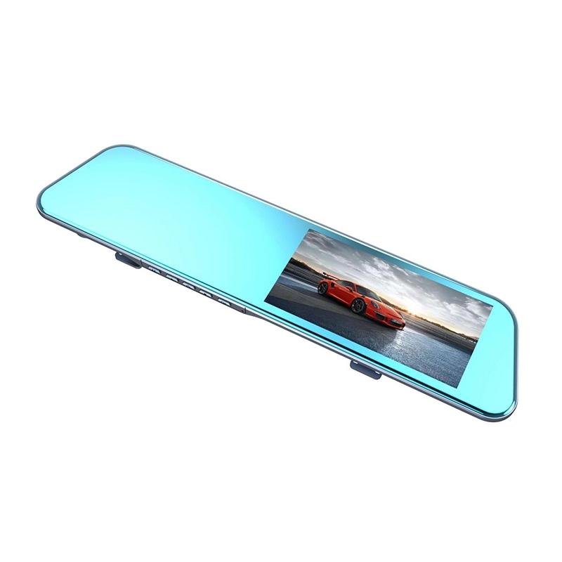 Camera auto oglinda dubla super subtire DVR Loosafe™ RoadTeam L1031, 5.5 inch, Touch, 1080p 30fps, unghi 170 grade, lentile SONY 6 straturi, camera marsarier, inregistrare ciclica, WDR, negru