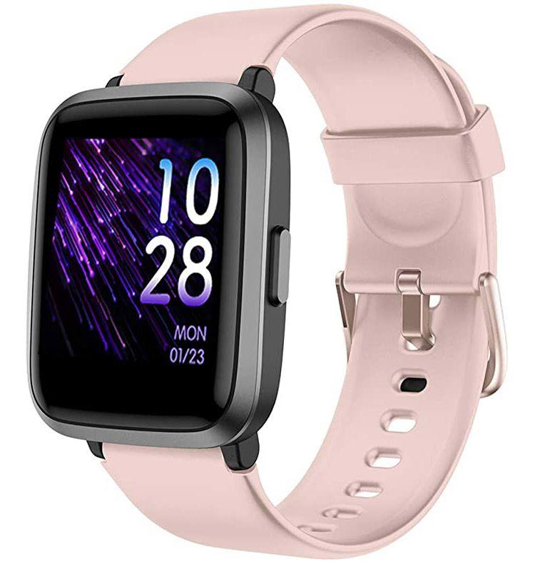 Ceas smartwatch TechONE™ ID205U 1.4 inch Touch, chipset Triaxial KIONIX, multi sport, stand by 30 zile, compatibil bluetooth 5.0, ritm cardiac, tensiune, nivel oxigen, rezistent la apa, masuratori precise, notificari, vibratii, apel bluetooth, Roz