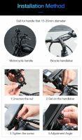 Suport telefon bicicleta, Loowoko® CH01, cauciucat, compatibil motocicleta, trotineta, solid, rotire 360, negru