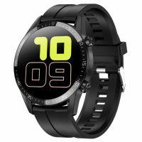 Ceas smartwatch TechONE™ L13C, 1.4 IPS, ritm cardiac, Aple bluetooth, ECG, oxigen, rezistent la apa IP67, senzor Bosch, Notificari, Vibratii, stand by 7 zile, sporturi multiple, fatete multiple, inregistrare, calculator, Negru