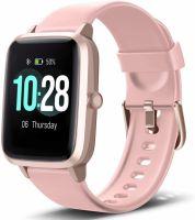 Ceas smartwatch TechONE™ ID205L 1.4 inch Touchscreen, multi sport, stand by 30 zile, compatibil bluetooth 5.0, ritm cardiac, rezistent la apa, masuratori precise, notificari, vibratii, apel bluetooth, test respiratie, roz