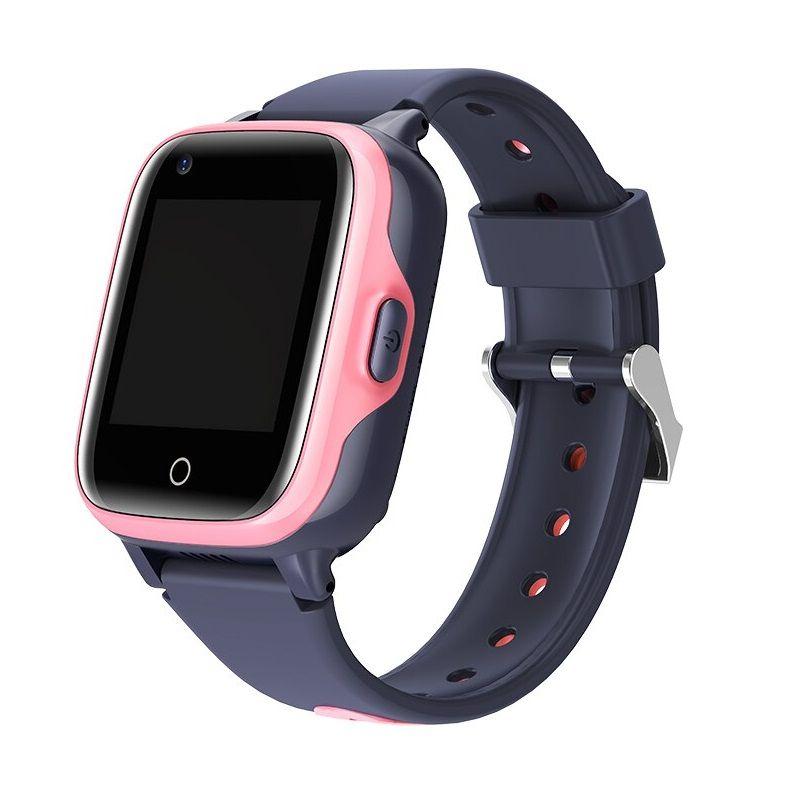 Ceas smartwatch GPS copii Techone™ KT15 4G, camera foto ultrapixel, apel video, localizare GPS+AGPS+Wi-Fi+LBS+Foto, telefon, rezistent la apa IP54, SOS, touchscreen, monitorizare spion, compatibil Digi, Roz