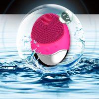 Dispozitiv de curatare faciala, Horigen™ DeepClean Pro V4, 5 viteze, 12000 oscilatii/min, cu carbune-bambus, viteza ajustabila, acumulator 300mAh, suport incarcare wireless, rezistent la apa, 3 zone de curatare, tehnologie cu ioni negativ, masaj, roz