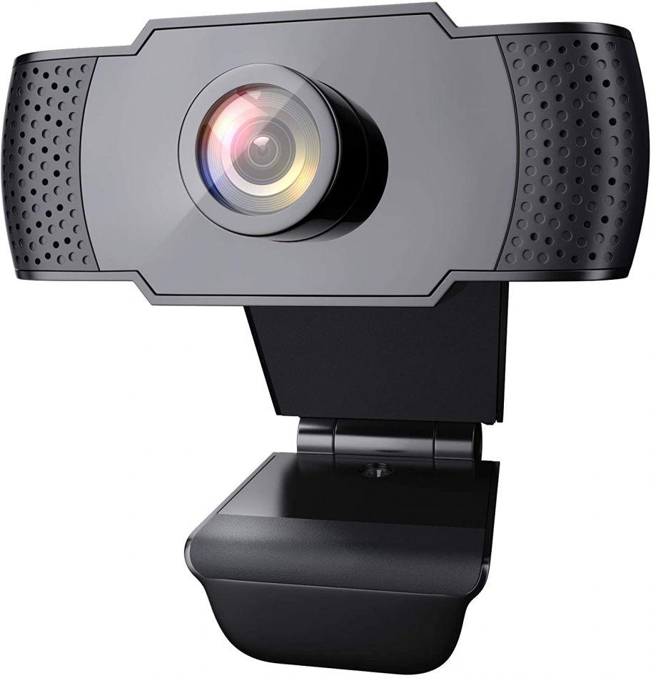 Camera web Loosafe™ TeleBuddy FV, Autofocus, 4MP 2K FullHD, SuperFocus, unghi 110 grade, 30FPS, anulare zgomot de fond, rotire, plug & play,  negru
