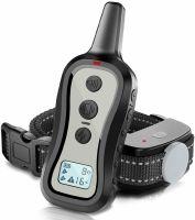 Zgarda electrica pentru dresaj caini, Techone™ 301, actiune 300 m, sunet, vibratie si soc (16 nivele), cu baterii, rezistenta la apa si praf, electrozi cauciucati, protectie piele caine, ideal si vanatoare, circumferinta reglabila 17-61.9 cm, negru