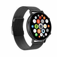 Ceas smartwatch TechONE™ DT96, bratara fitness, ecran Retina, BT 5.0, ritm cardiac, oxigen sange, IP 67, aluminiu, sporturi multiple, 2 curele, negru