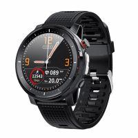 Ceas smartwatch TechONE® L15, ecran 1.3 inch Retina, lanterna, ritm cardiac, EKG, oxigen sange, rezistenta apa IP68, full Touch, multi sport, stand by 7 zile, ultra usor, rosu/negru